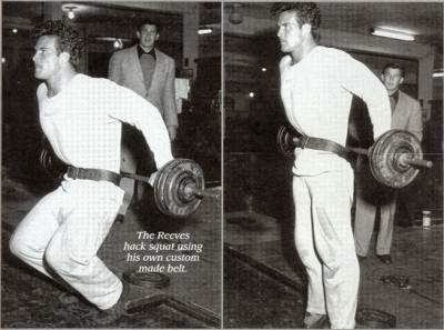 Steve Reeves Training Barbell Hack Squats