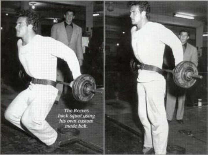 Steve Reeves Training Hack Squats