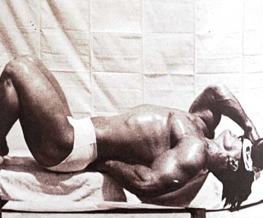 John Grimek performing Supine Neck Flexion