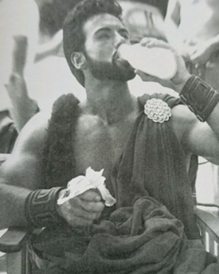 Steve Reeves Drinking Milk