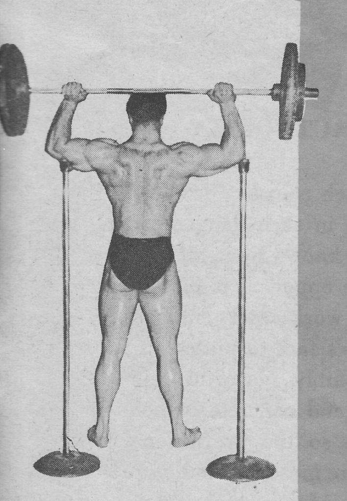 Reg Park Standing Barbell Press
