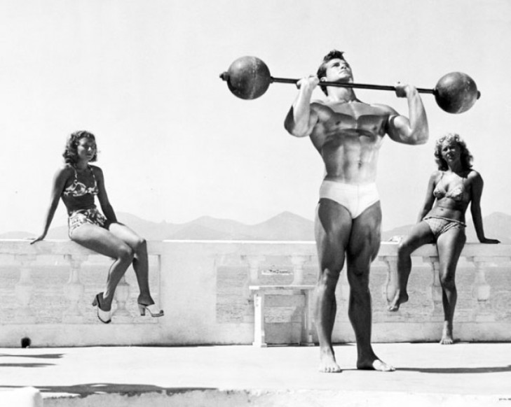 Steve Reeves Standing Barbell Press