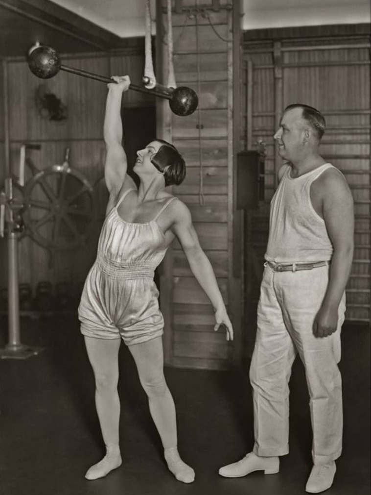 Unknown Woman Unilateral Standing Press