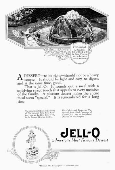 Gelatin Advertisement 30 Jell O Gelatin