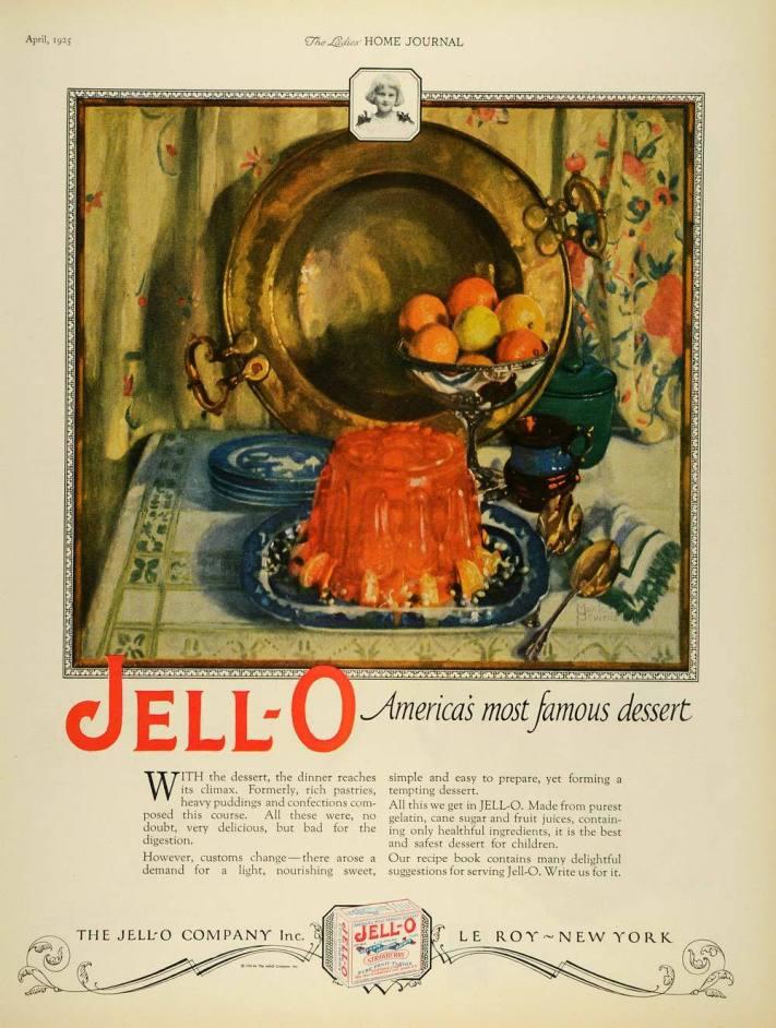 Gelatin Advertisement 31 Jell O Gelatin