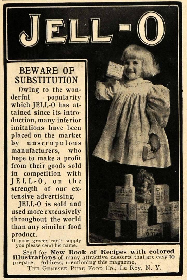 Gelatin Advertisement 33 Jell O Gelatin