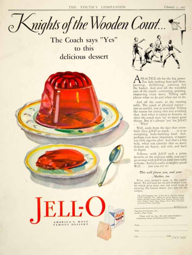Gelatin Advertisement 39 Jell O Gelatin