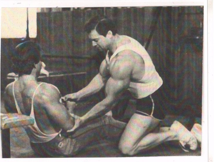 Larry Scott Instructing a Cable Row