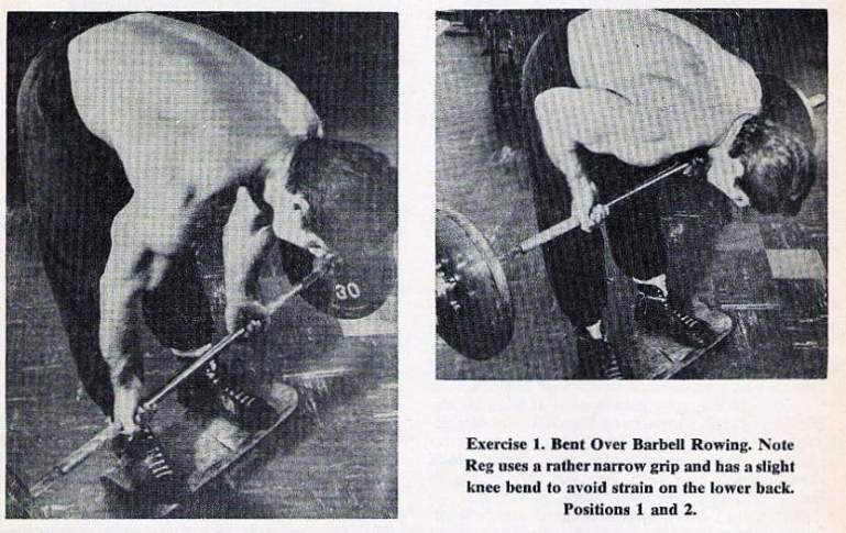 Reg Park Bent Over Barbell Rowing