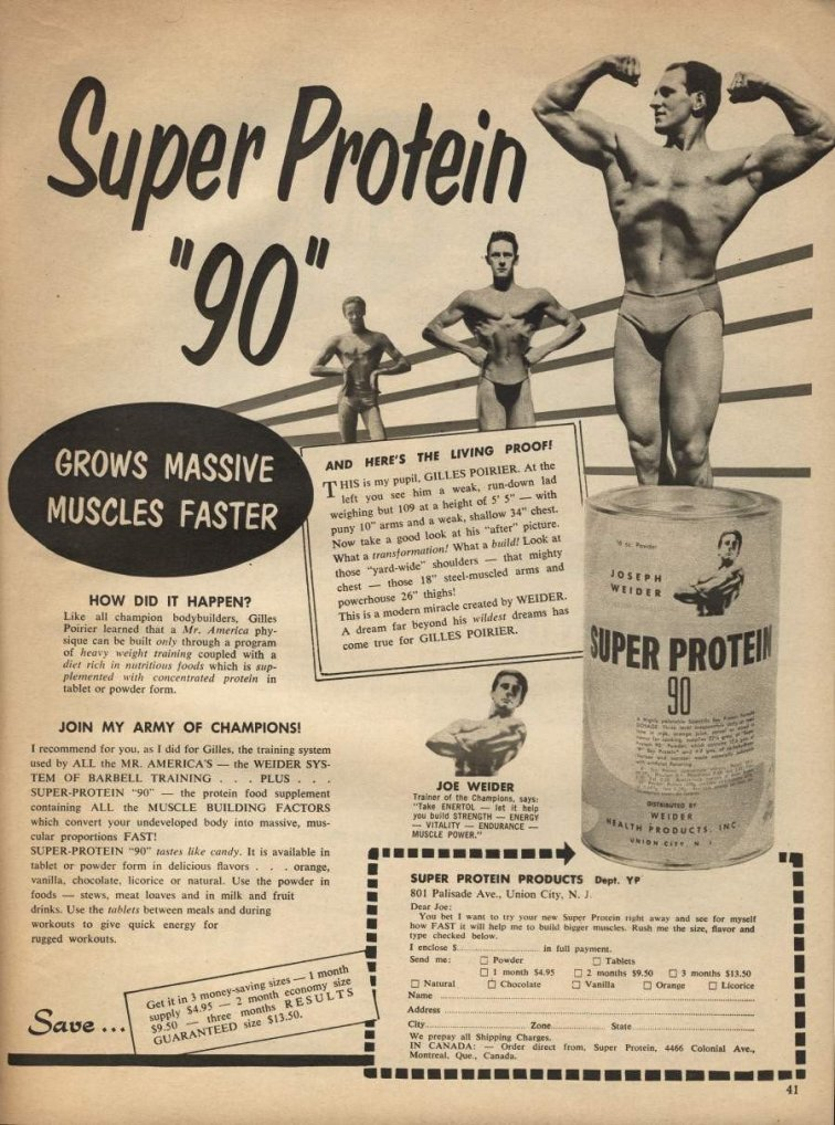 Super Protein 90 Grow Massive Muscles Faster Advertisement