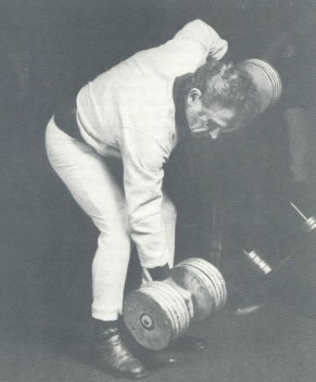 Vince Gironda performing Reeves Alternate Row, A Muscle has Four Sides