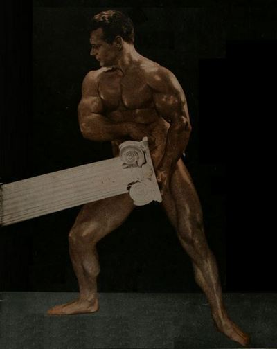 John C Grimek Posing
