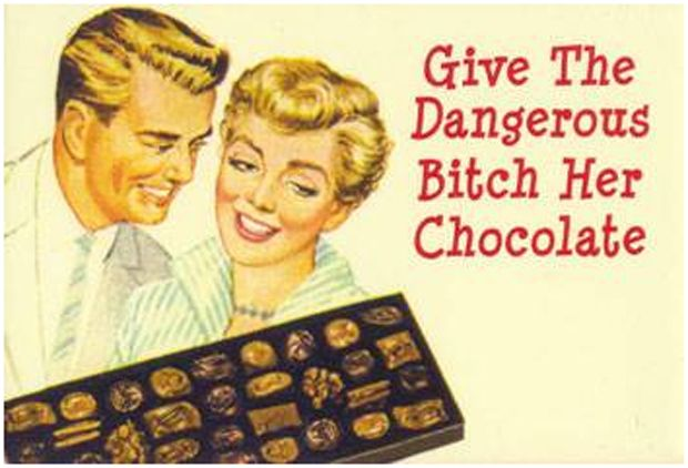 PMS and Chocolate Vintage Advertisement