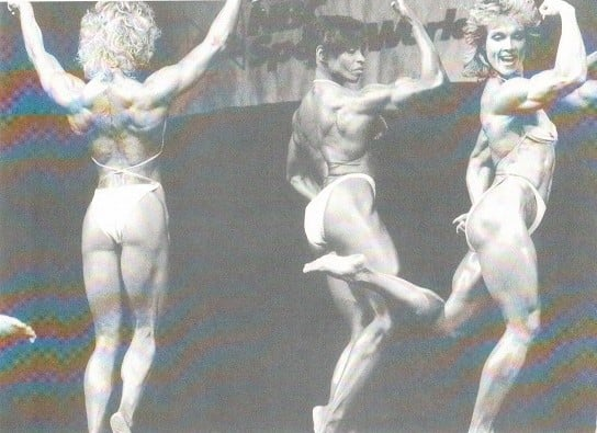 Corinna Cory Everson, Carla Dunlap, and Mary Roberts Posing