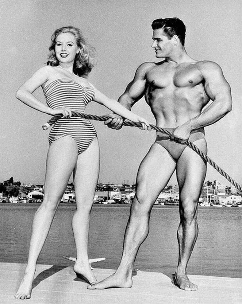 Betty Brosmer and Richard Dick Dubois Posing