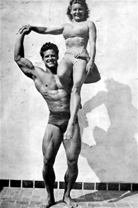 Steve Reeves and Abbye Eville Pudgy Stockton Posing