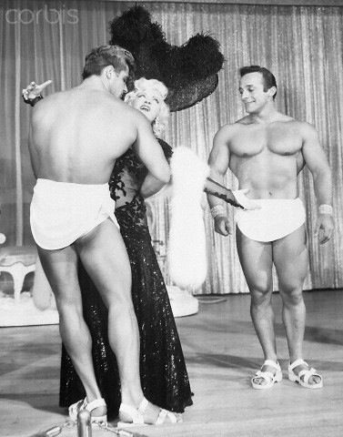 Dick Dubois, George Eiferman, and Mae West Posing