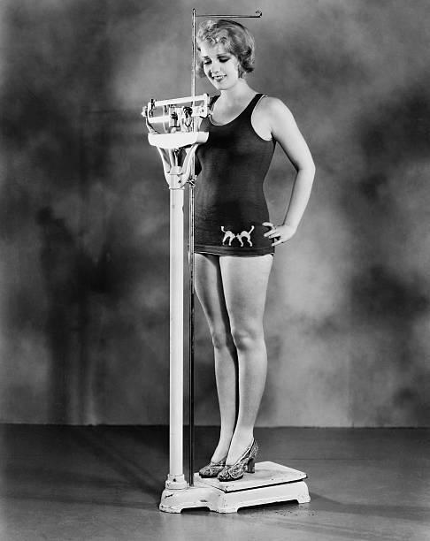 Anita Page Weighing Herself