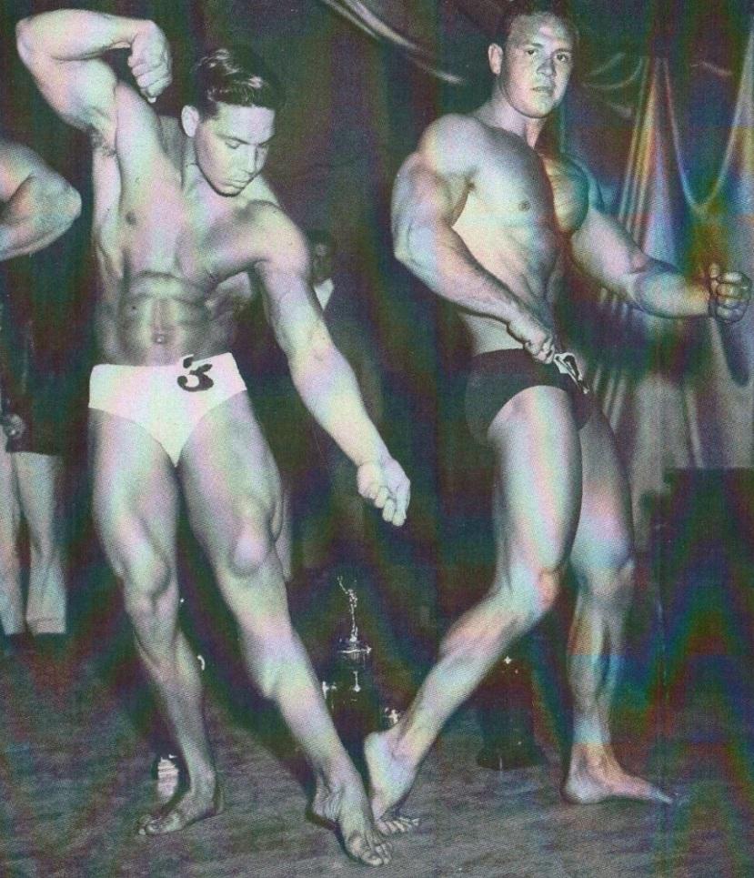 Bill Pearl and Irvin Zabo Koszewski Posing