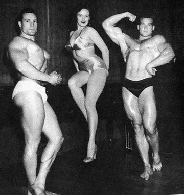 Clarence Ross, Val Njord, and Steve Reeves Posing