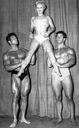 Steve Reeves and Reg Park Posing