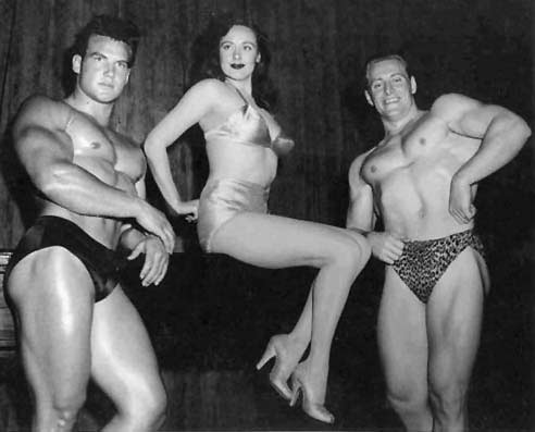 Steve Reeves, Val Njord, and Alan Stephan Posing