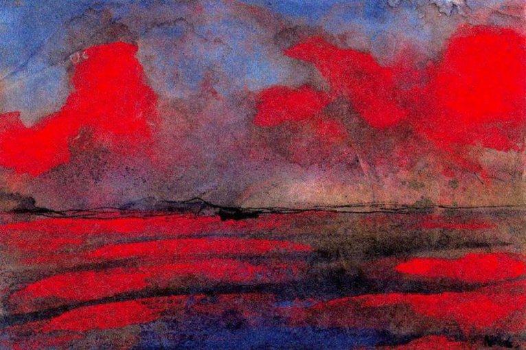 Landscape in Red Light, Emile Nolde