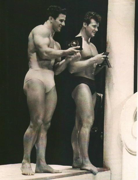 Reg Park and Steve Reeves Posing