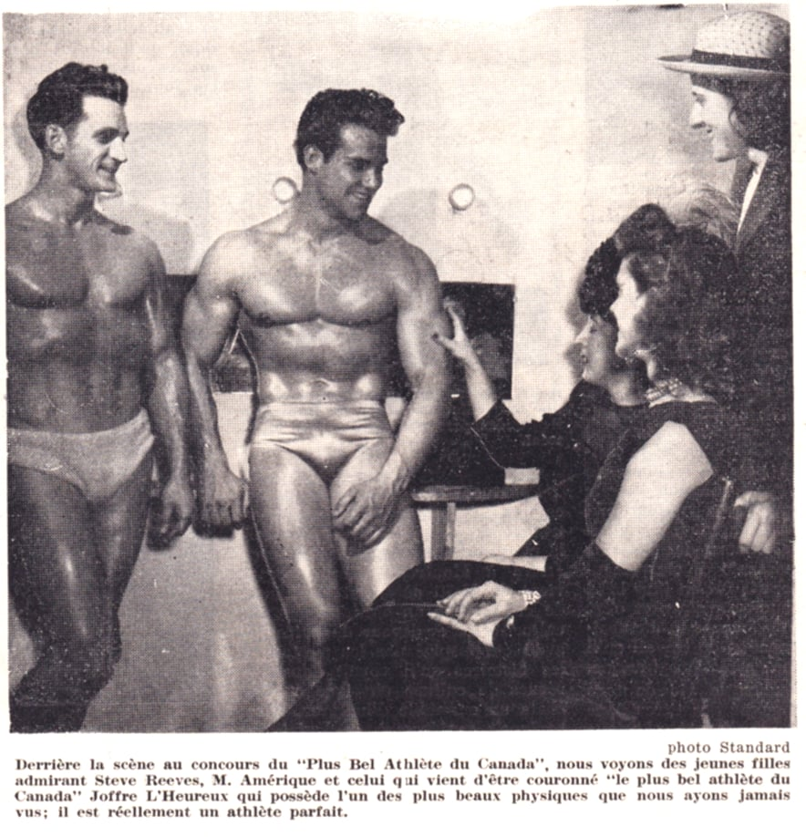 Joffre LHeureux and Steve Reeves Posing