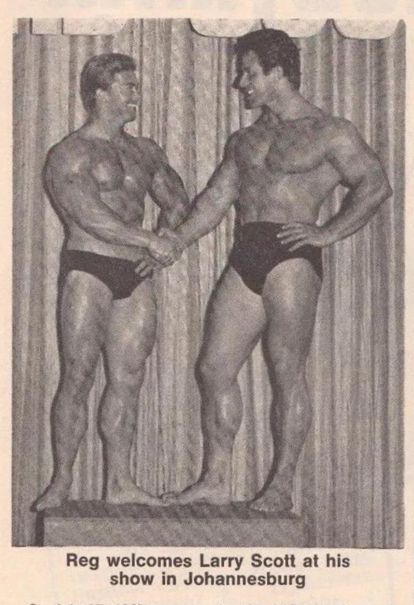 Larry Scott and Reg Park Posing