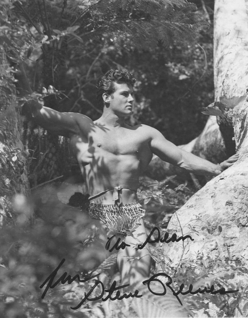 Steve Reeves with Autograph