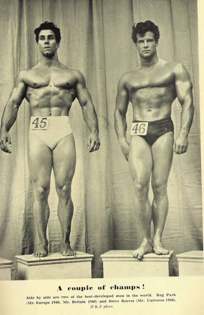 Reg Park and Steve Reeves Posing
