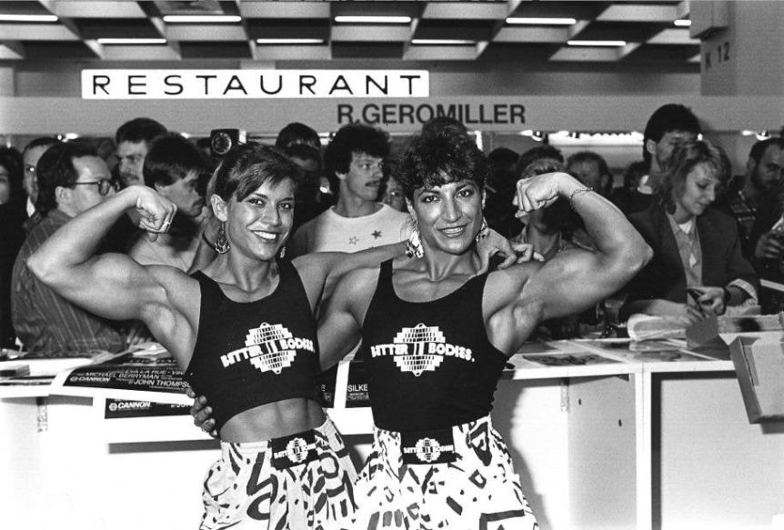 Juliette Bergmann and Liona Bergmann Posing