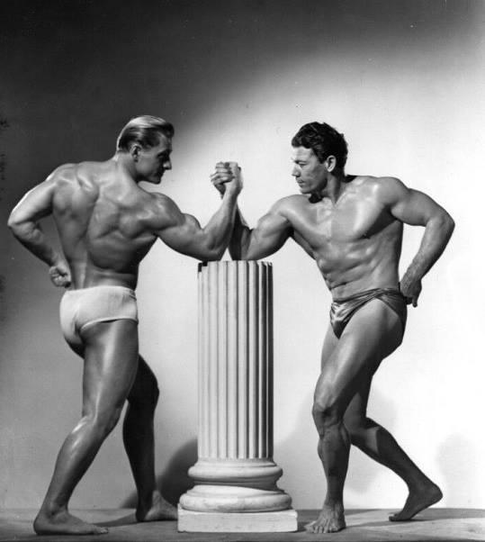 Alan Stephan and Bert Goodrich Posing