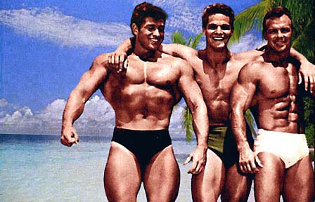 Reg Lewis, Richard Dick Dubois, and Irvin Zabo Koszewski Posing