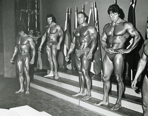 Frank Zane, Bill Pearl, and Reg Park
