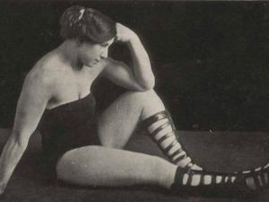 "Frances ""Athelda"" Rheinlander Posing"