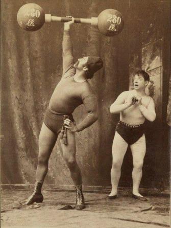 Herbert Bosworth Strongman Performer Posing
