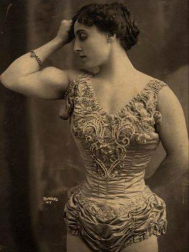 New York Circus Strong Woman Posing