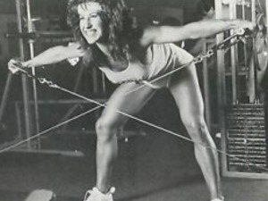 Rachel McLish Bent Over Cable Side Raises