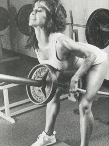 Rachel McLish BentOver Barbell Row