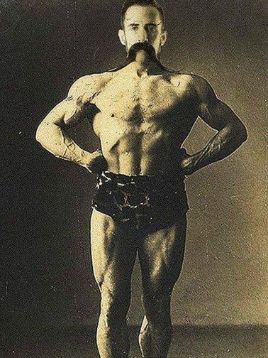 Victorian Strong Man Posing