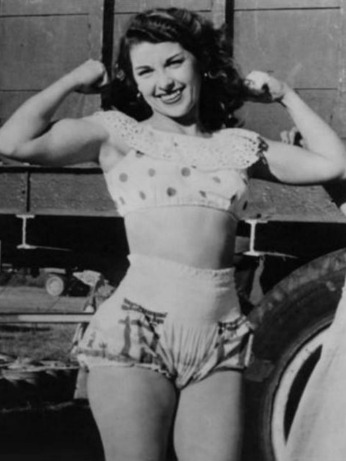 Vintage Circus Muscle Woman