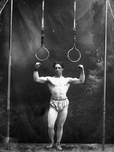 Circus Strongman Posing