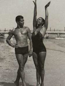 Josephine Baker and Serge Lifar Posing