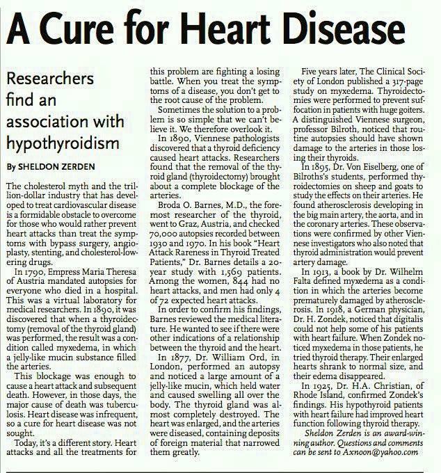 A Cure for Heart Disease Sheldon Zerden