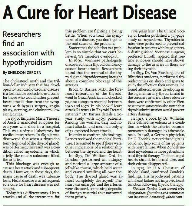 A Cure for Heart Disease Sheldon Zerden