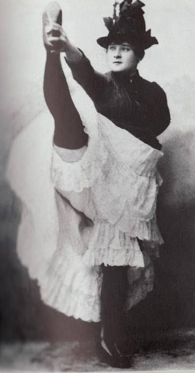 Moulin Rouge Dancer Louise Weber aka La Goulue the Glutton Posing