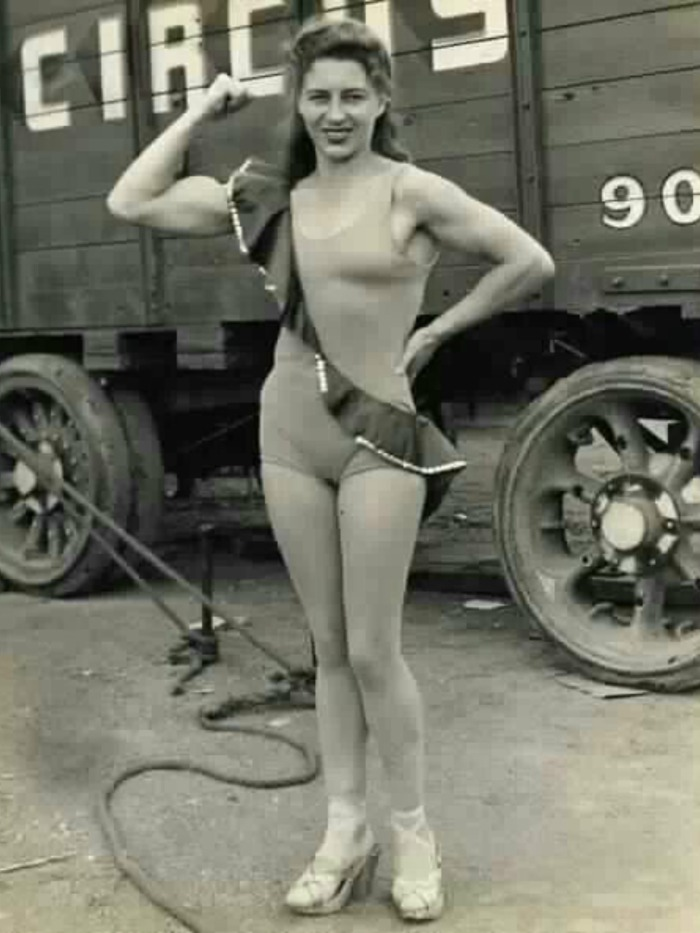 Unknown Circus Strong Woman Posing