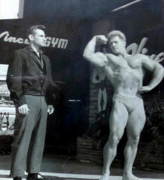 Jack Delinger and Vince Gironda Posing